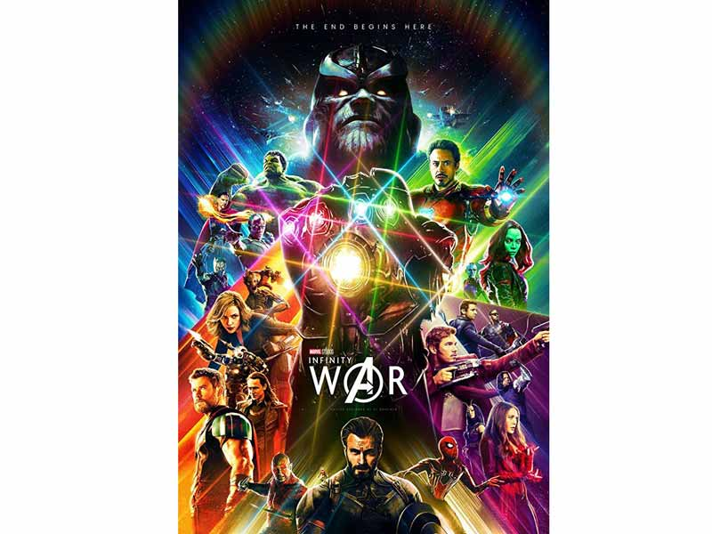 Avengers: Infinity War movie poster at Vox Cinemas in Fujairah