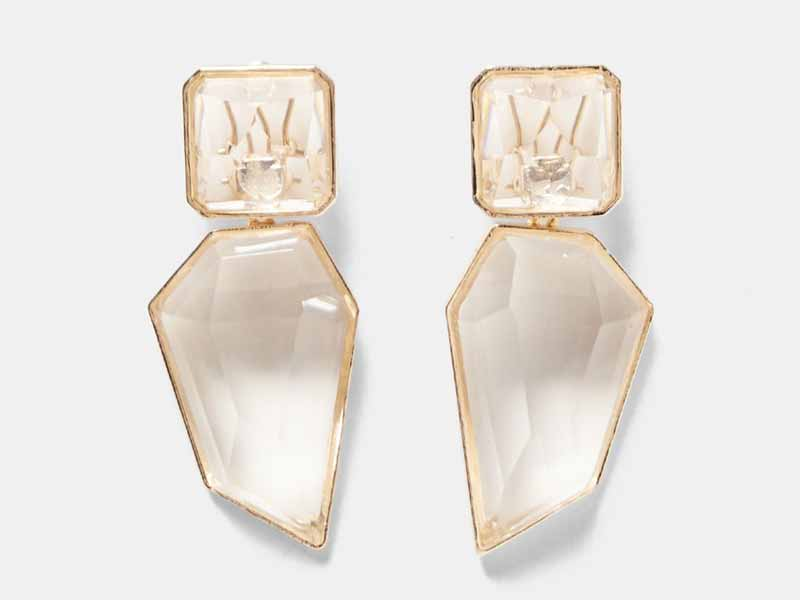 Add instant gloss to your outfit with this Clear stone earrings