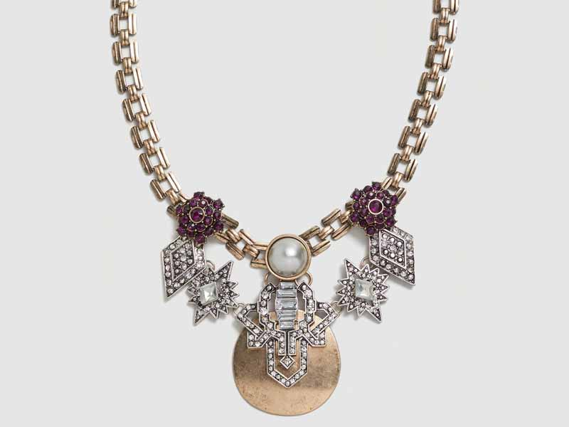 Try this Crystal Metal Necklace which suits with every outfit