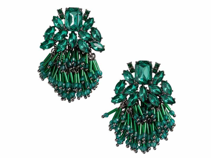 Emerald Green Earrings from H&M UAE