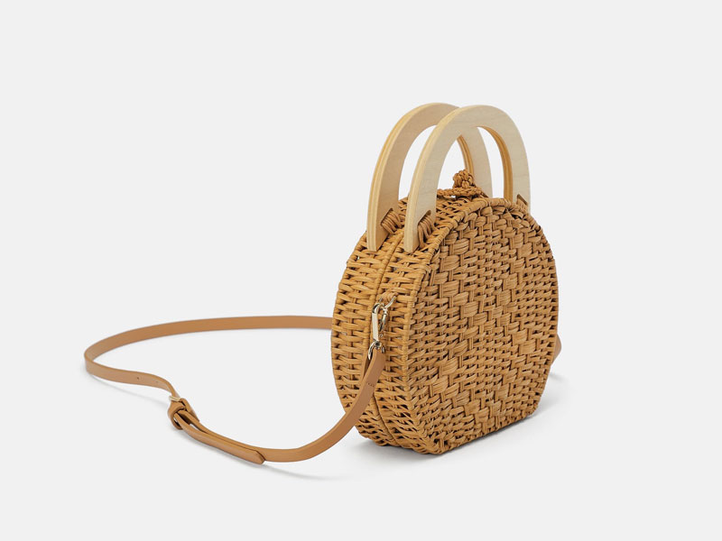 Woven straw bag by Zara, available at Mall of the Emirates and Mall of Egypt, plus City Centres