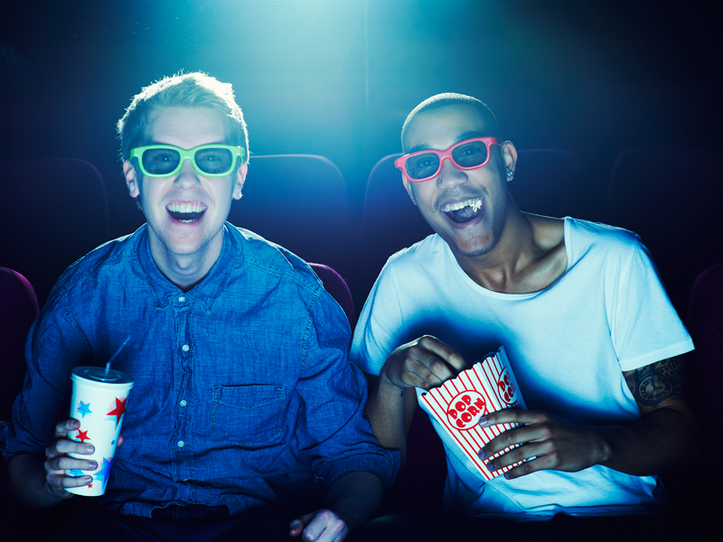 Two men at the cinema