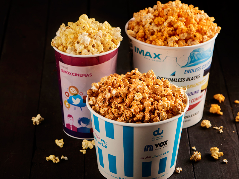 Delivery popcorn from VOX Cinemas in the UAE