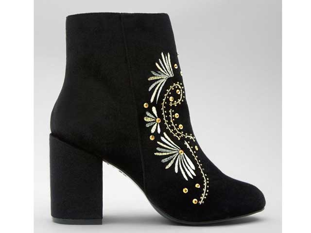 Velvet ankle boots by New Look